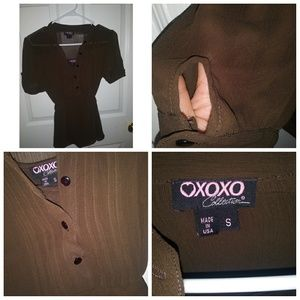 Xoxo blouse and tank top | small | brown